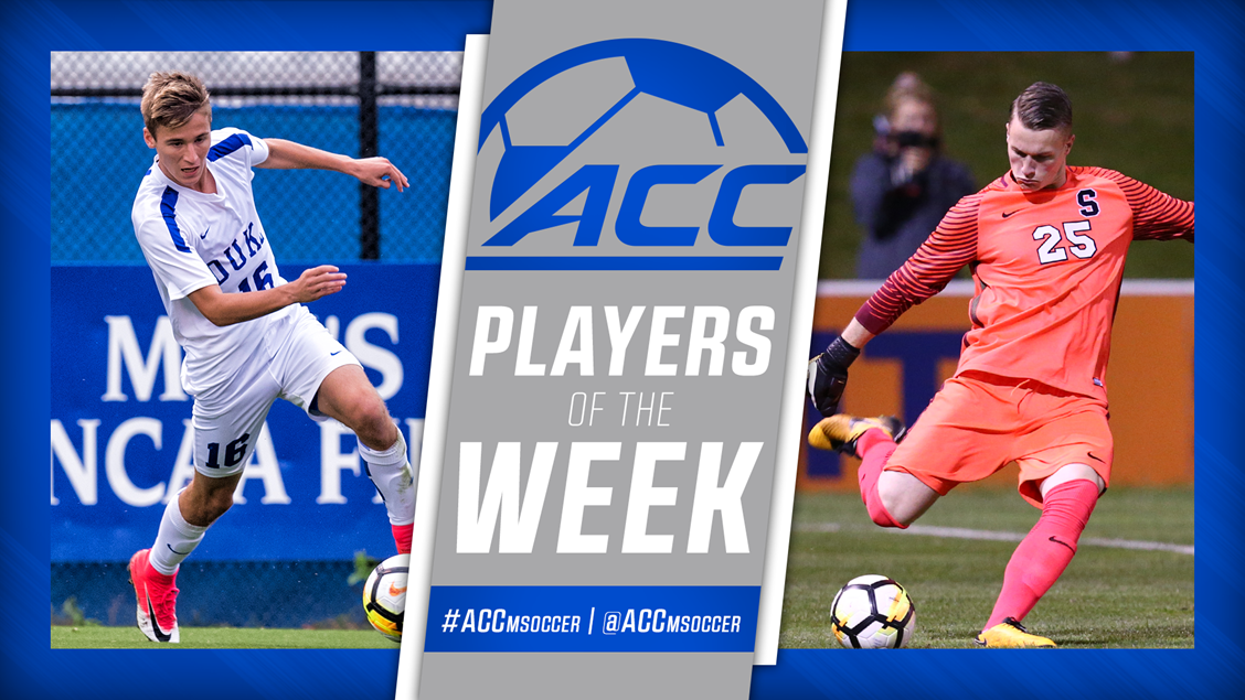 Wright and Hilpert Named ACC Men's Soccer Players of the Week