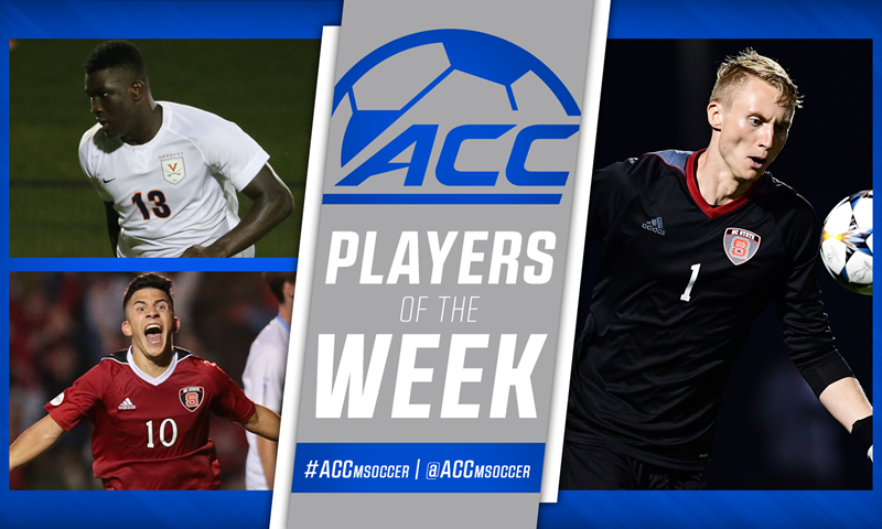 ACC Men's Soccer Players of the Week Announced