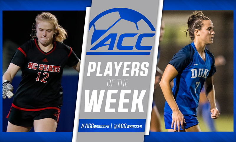 ACC Women's Soccer Players of the Week Announced