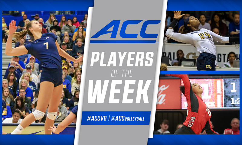 ACC Announces Weekly Volleyball Awards