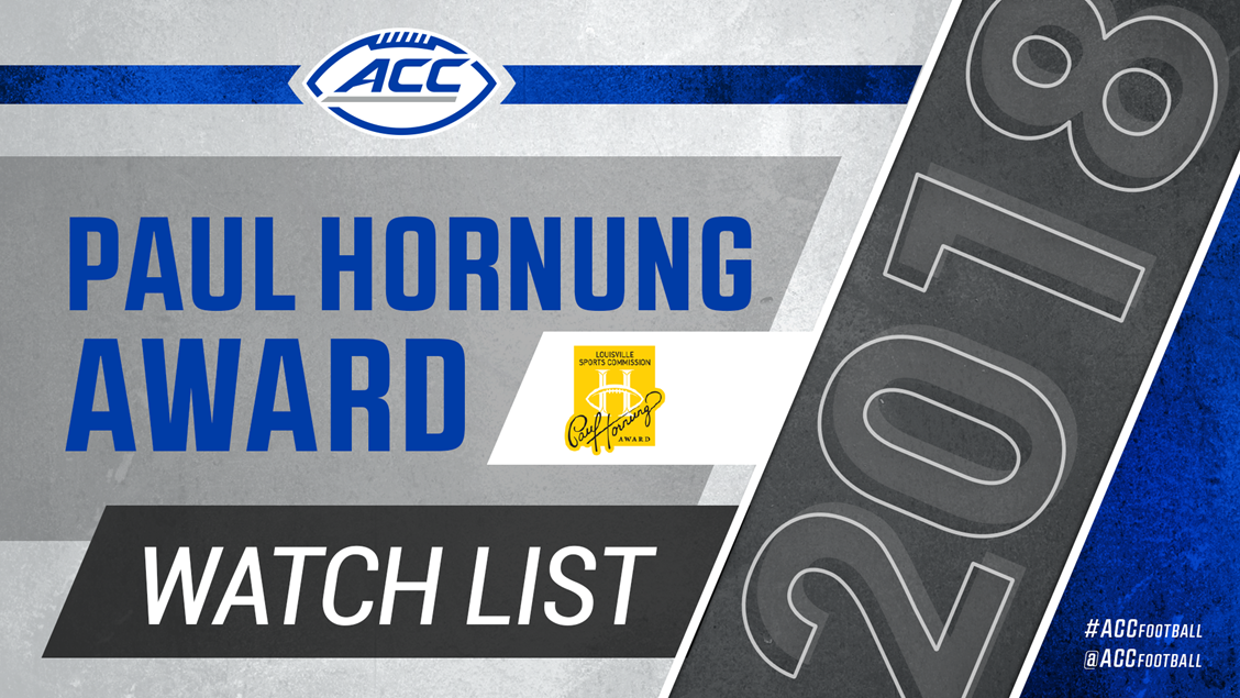 ACC Leads With Six On Hornung Award Watch List - Atlantic