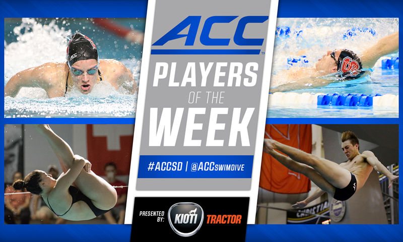 ACC Announces Swimming and Diving Weekly Awards