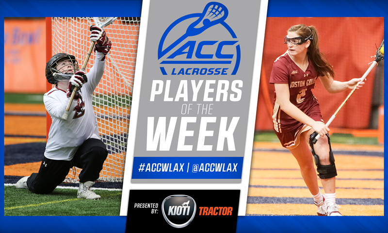 Boston College Sweeps ACC Women's Lacrosse Player of the Week Honors