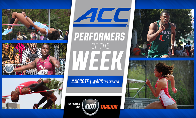 Outdoor Track & Field Performers of the Week Announced