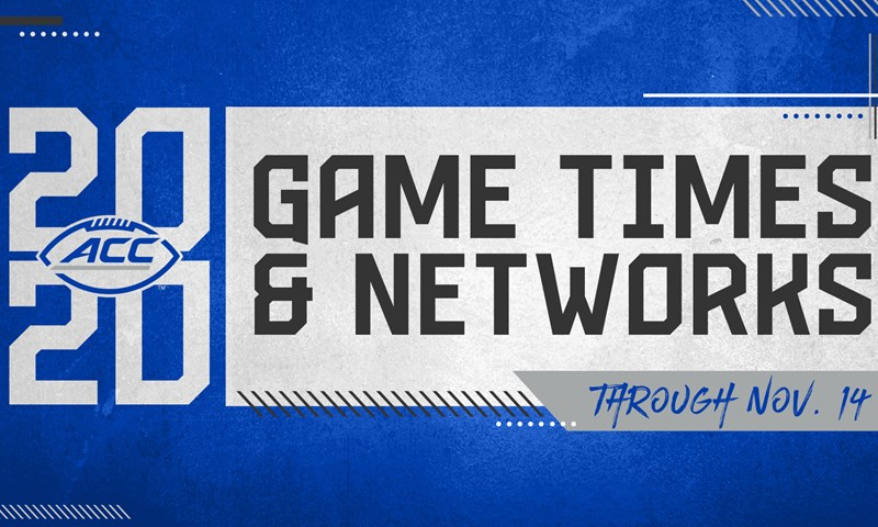ACC Announces Game Times & Networks for Nov. 14