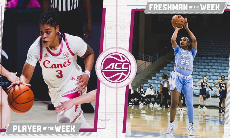 Deja Kelly Repeats As ACC Women's Basketball Freshman Of The Week
