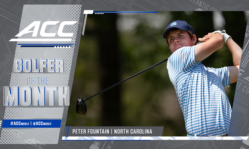 UNC's Peter Fountain Named ACC Men's Golfer of the Month