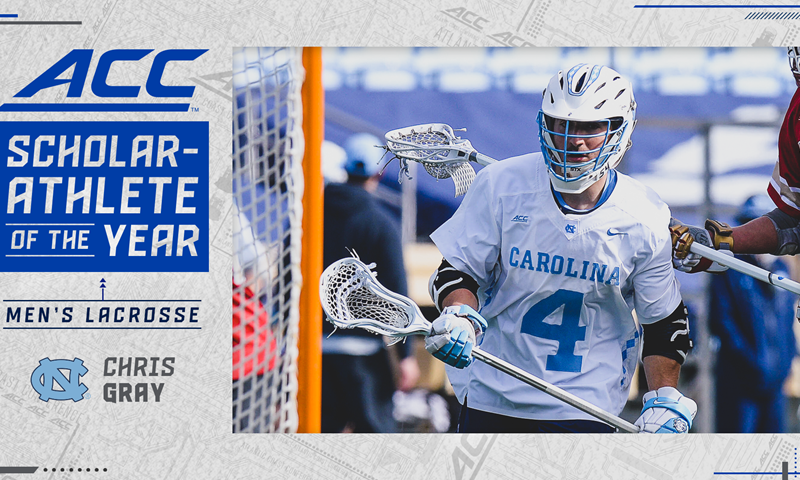 Chris Gray Named ACC Men's Lacrosse Scholar-Athlete of the Year